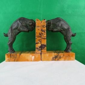 Pair of Bookholders Signed Marcel Guillemand