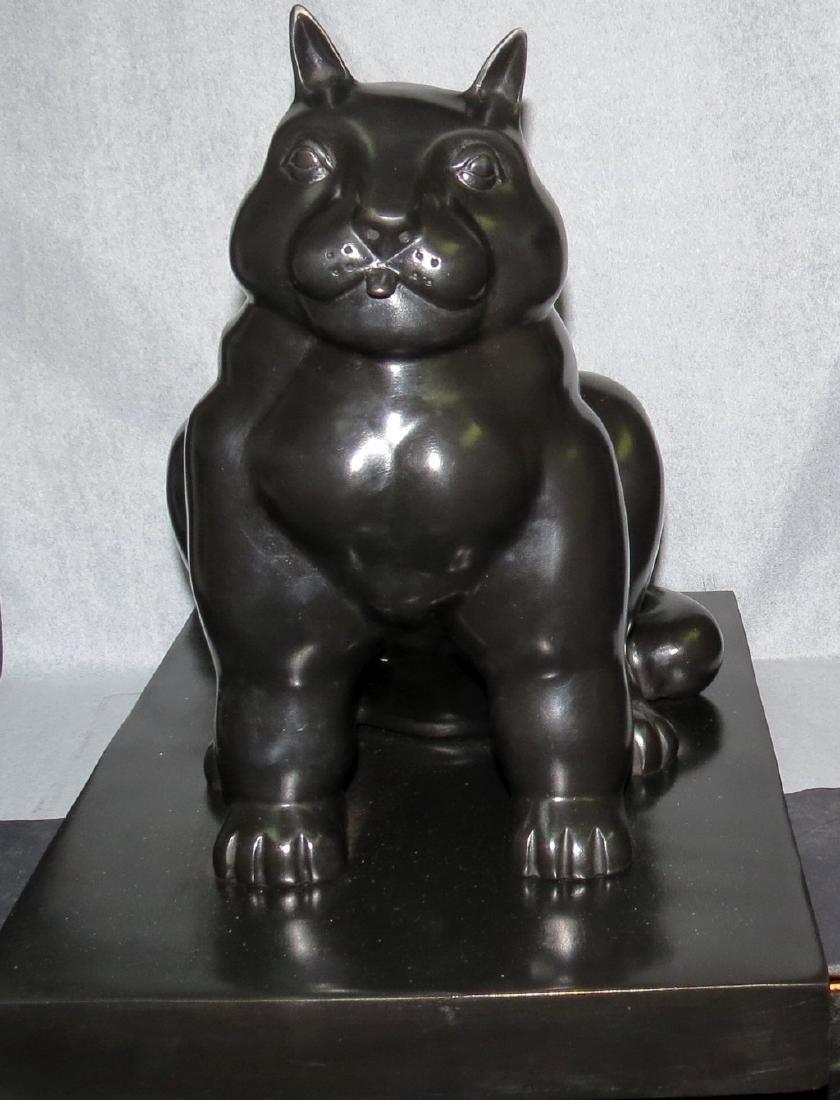 """Fernando Botero - Bronze """"El Gato"""" . Pietrasanta Mark"""