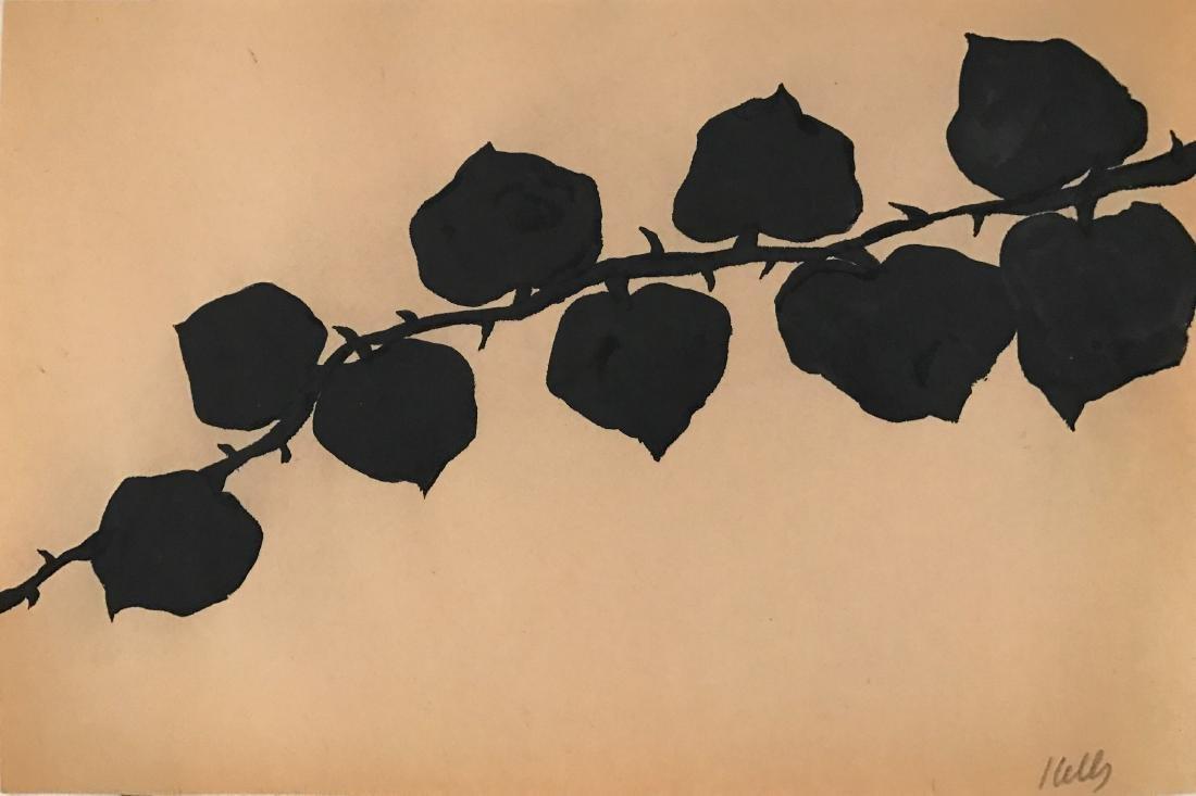 "Ellsworth Kelly - Ink on paper COA 9.5"" x 14.2"""