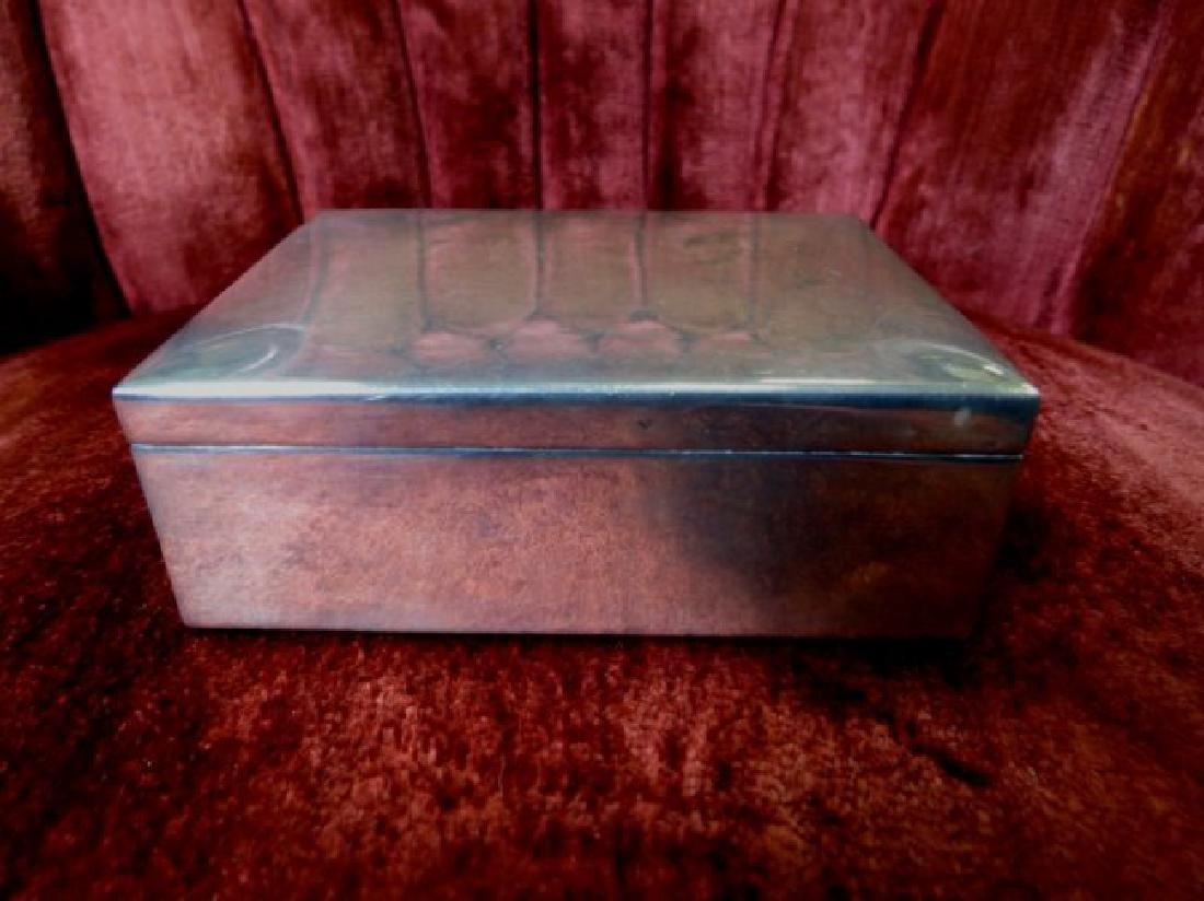 """Silver Box (Ortega Mexico) H: 1.5"""" W: 4"""" D: 3"""""""