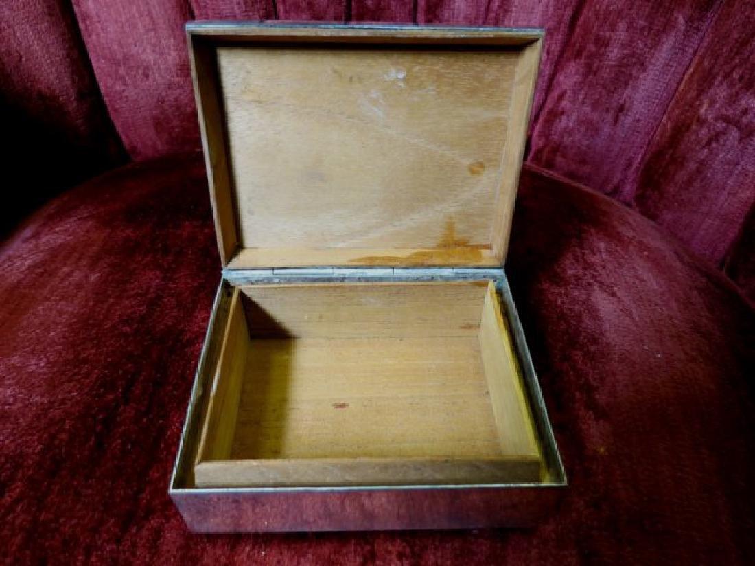 """Silver Box (Ortega Mexico) H: 1.5"""" W: 4"""" D: 3"""" - 4"""