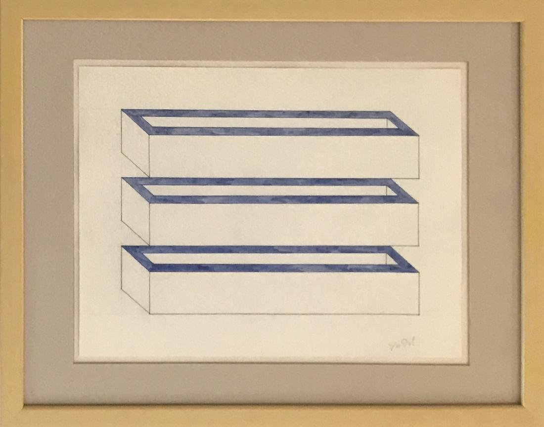 Donald Judd Pencil/Ink & Watercolor on paper