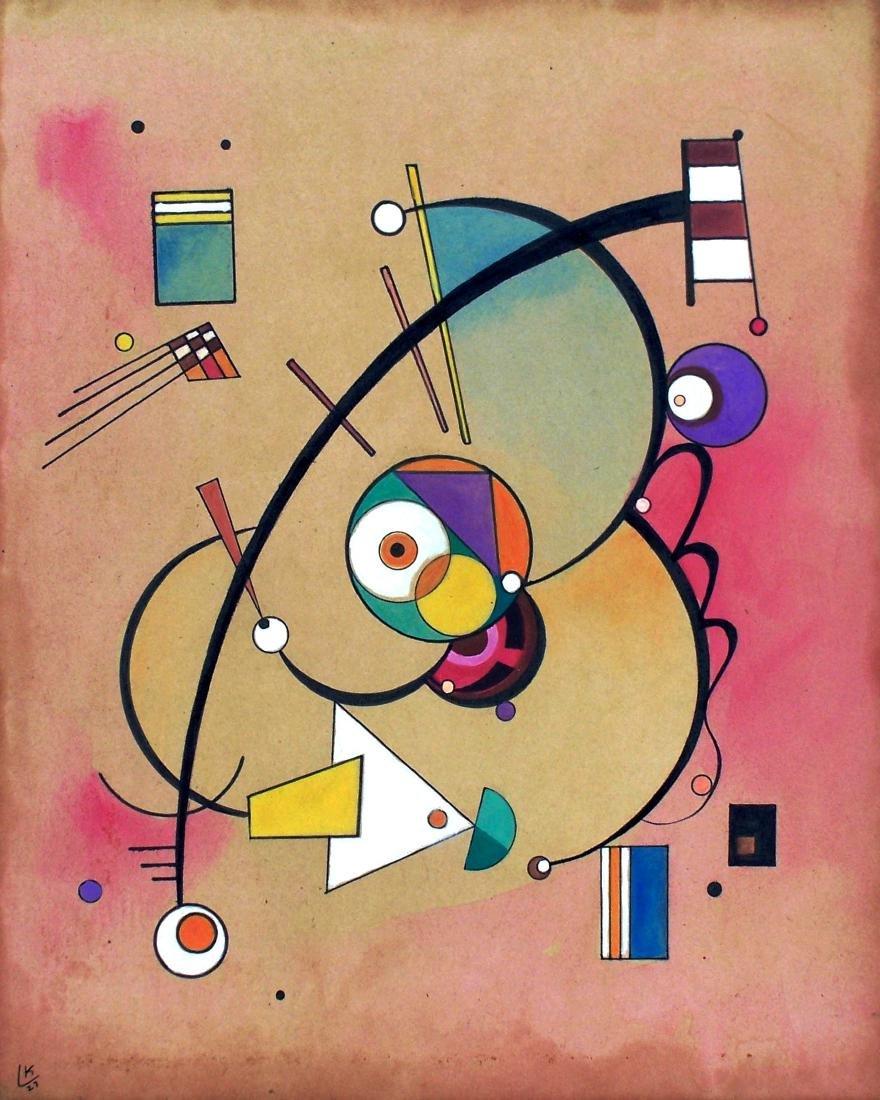 Wassily Kandinsky - Mixed media on paper - COA