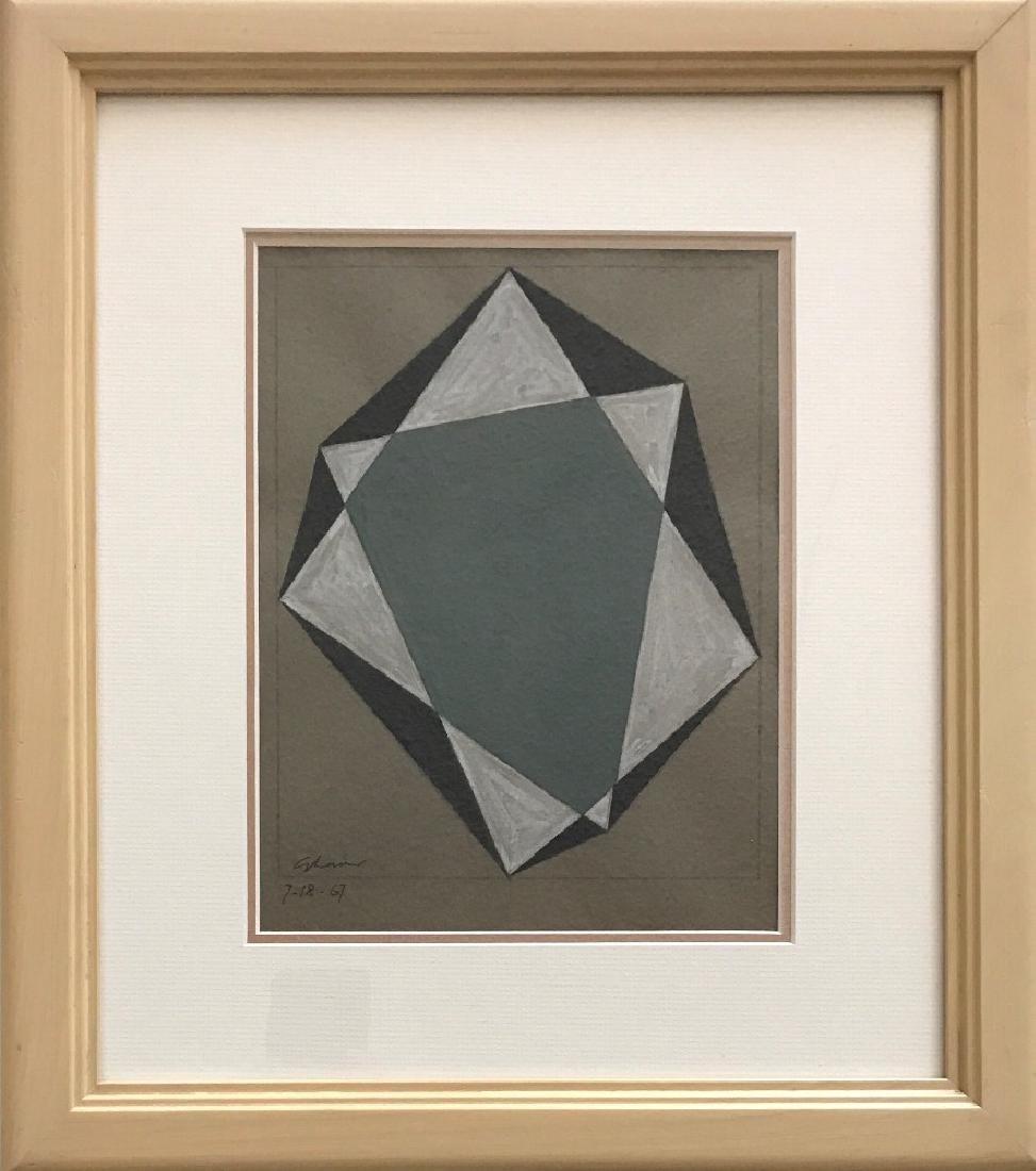 Charles Green Shaw 1967 Pencil & Gouache/ paper