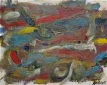 "Joan Mitchell - Oil on Canvas on Board 8"" x 10"""