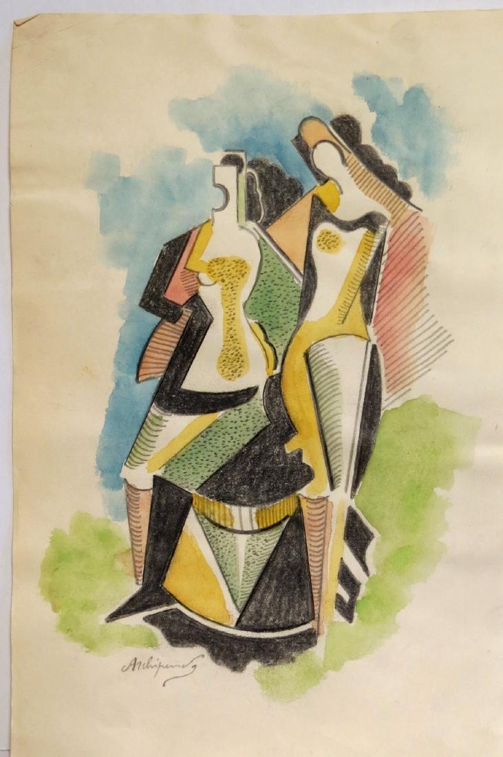 Alexander Archipenko - Color pencil on paper