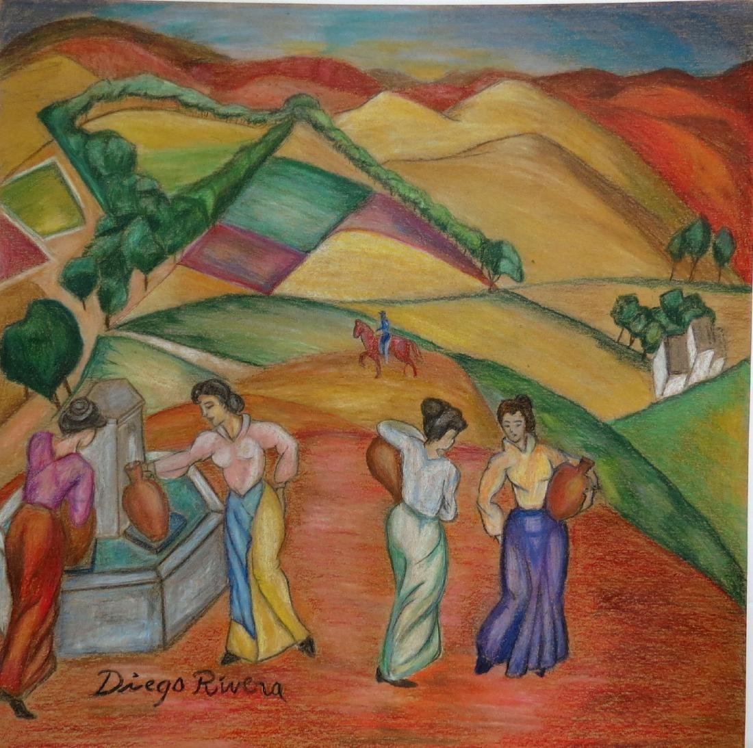 "Diego Rivera - Color pencil on paper 12"" x 12"""