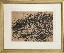 "Jackson Pollock 1949 Ink on paper 10.2"" x 14.2"""