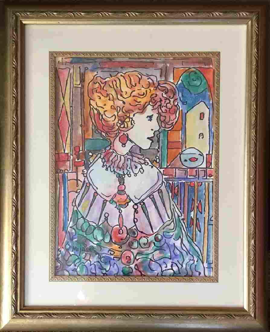 "Jose Maria Mijares, Watercolor on paper 15"" x 11"""