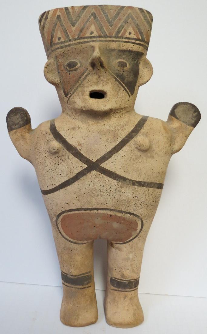 """Pre Columbian Ceramic figure H: 14"""" Excellent"""