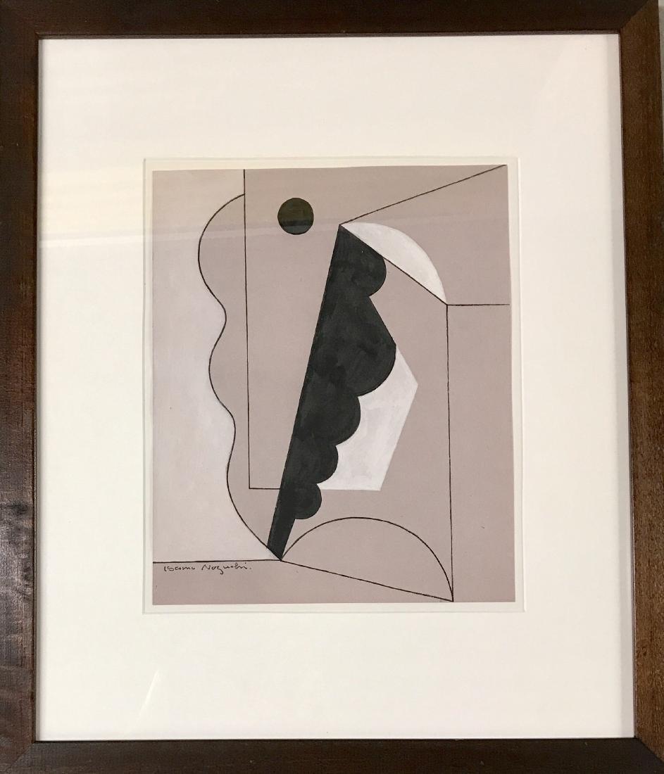 "Isamu Noguchi - Gouache on paper 11"" x 9"""