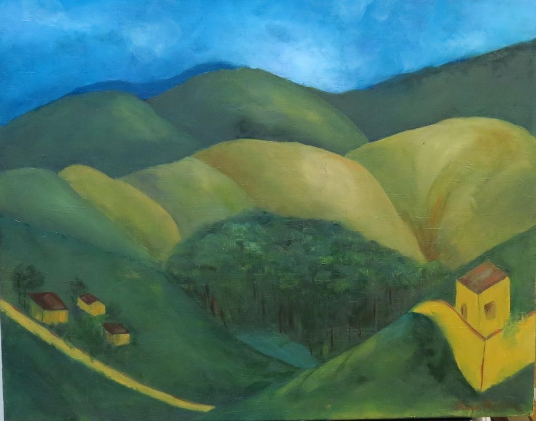 Diego Rivera - Oil on Canvas - Cubist 1918 w/COA