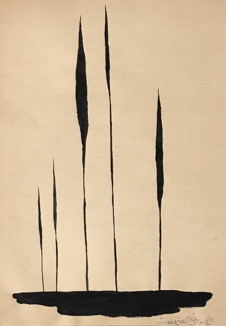 "Georgia O'Keeffe Ink on paper 13.5"" x 9.5"" Attributed"