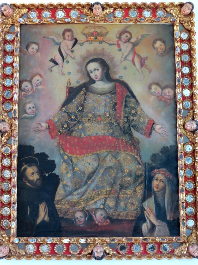 Virgin of La Silla ,18th Century Peruvian O/C