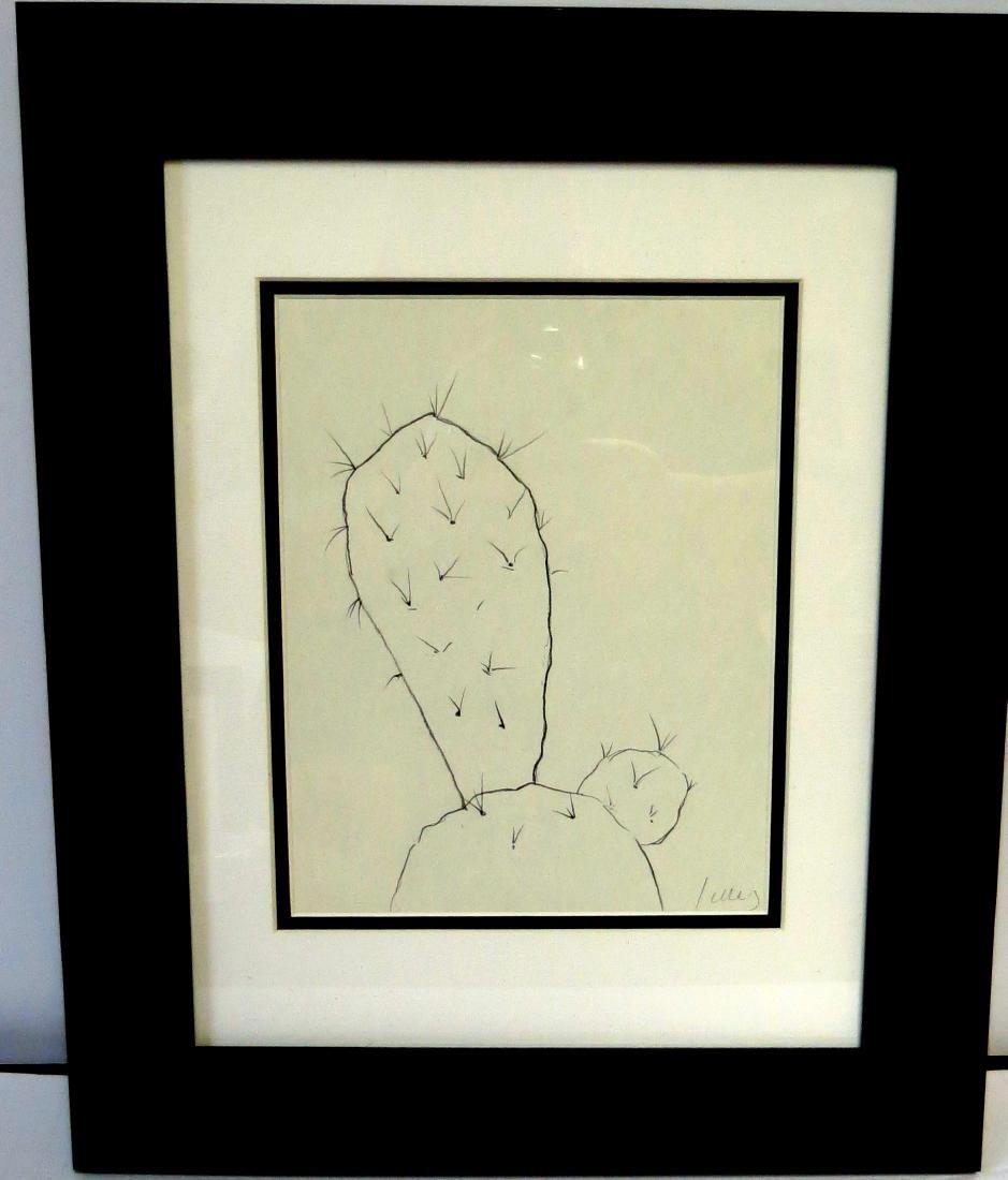 "Ellsworth Kelly - Pencil on paper - w/COA 10"" x 8"""