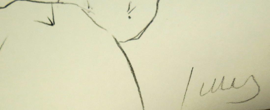 "Ellsworth Kelly - Pencil on paper - w/COA 10"" x 8"" - 3"