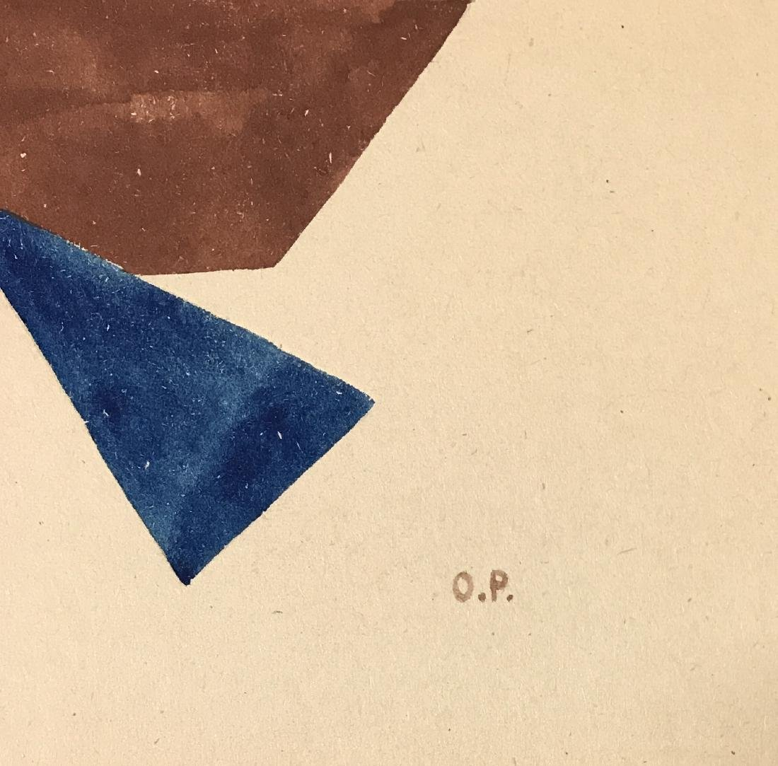 "Olga Rozanova - Gouache on paper12.5"" x 10.3"" - 2"