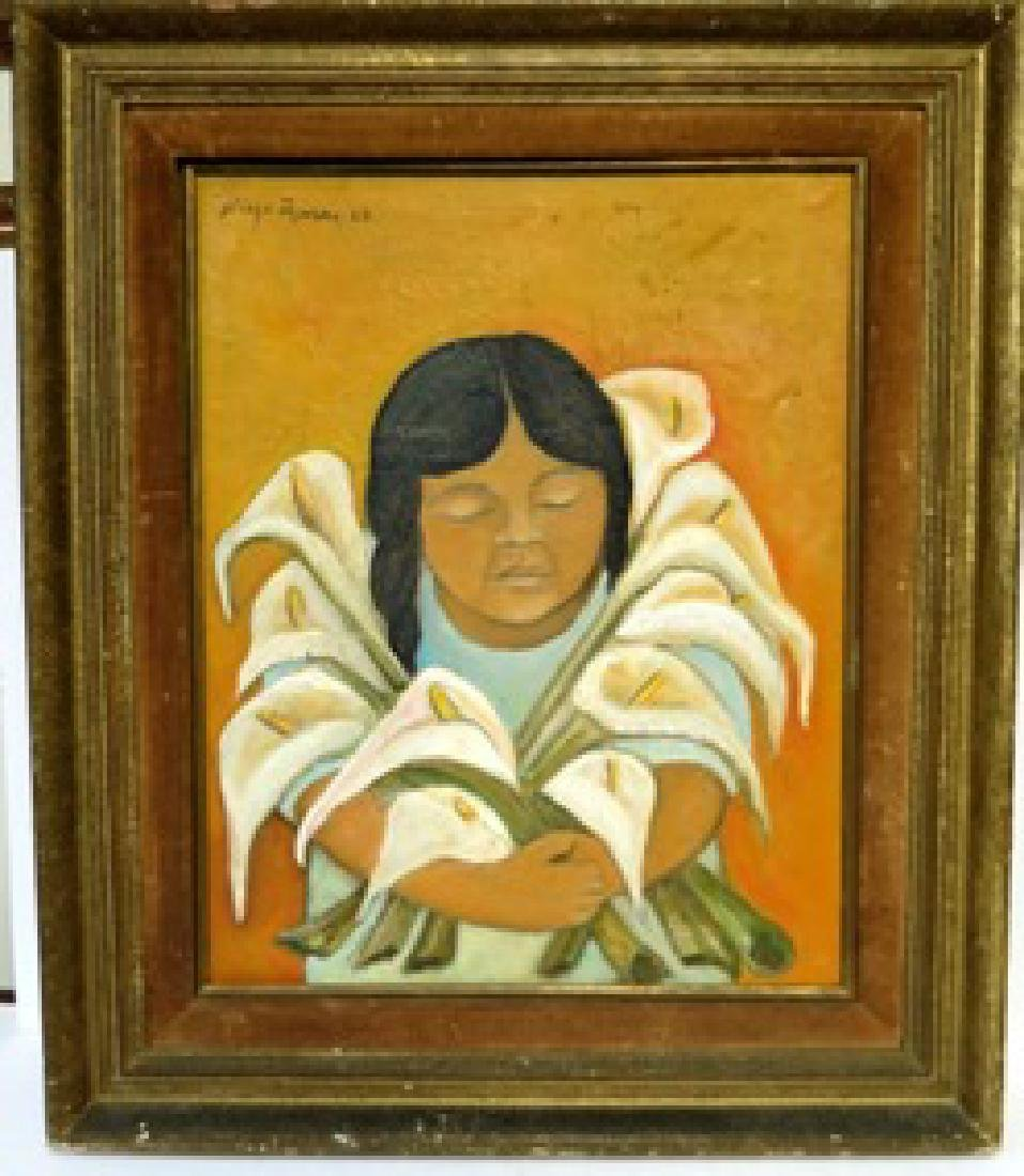 Diego Rivera 1937 Oil on Canvas - COA + Provenance