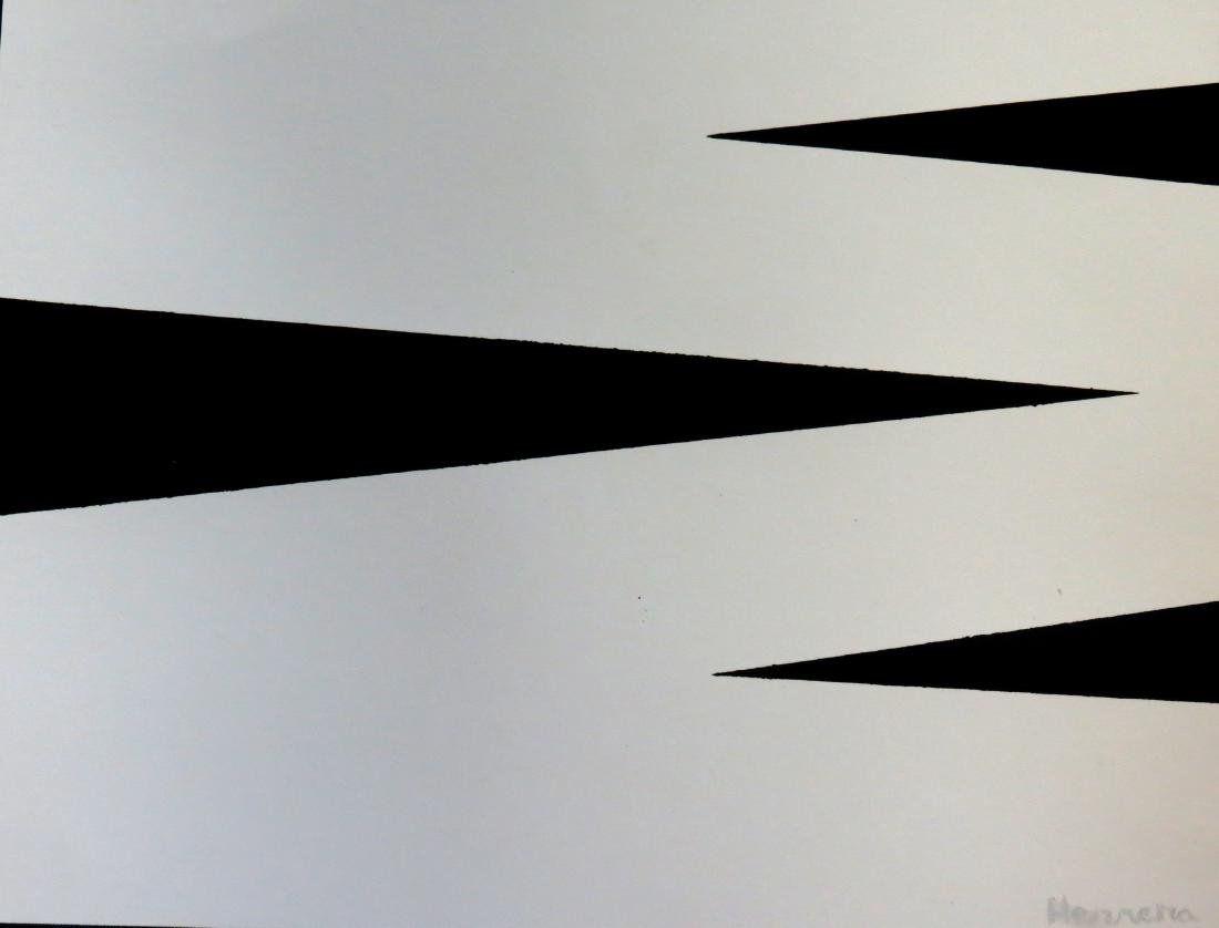 Carmen Herrera Acrylic on Paper - Provenance A.Vinocur