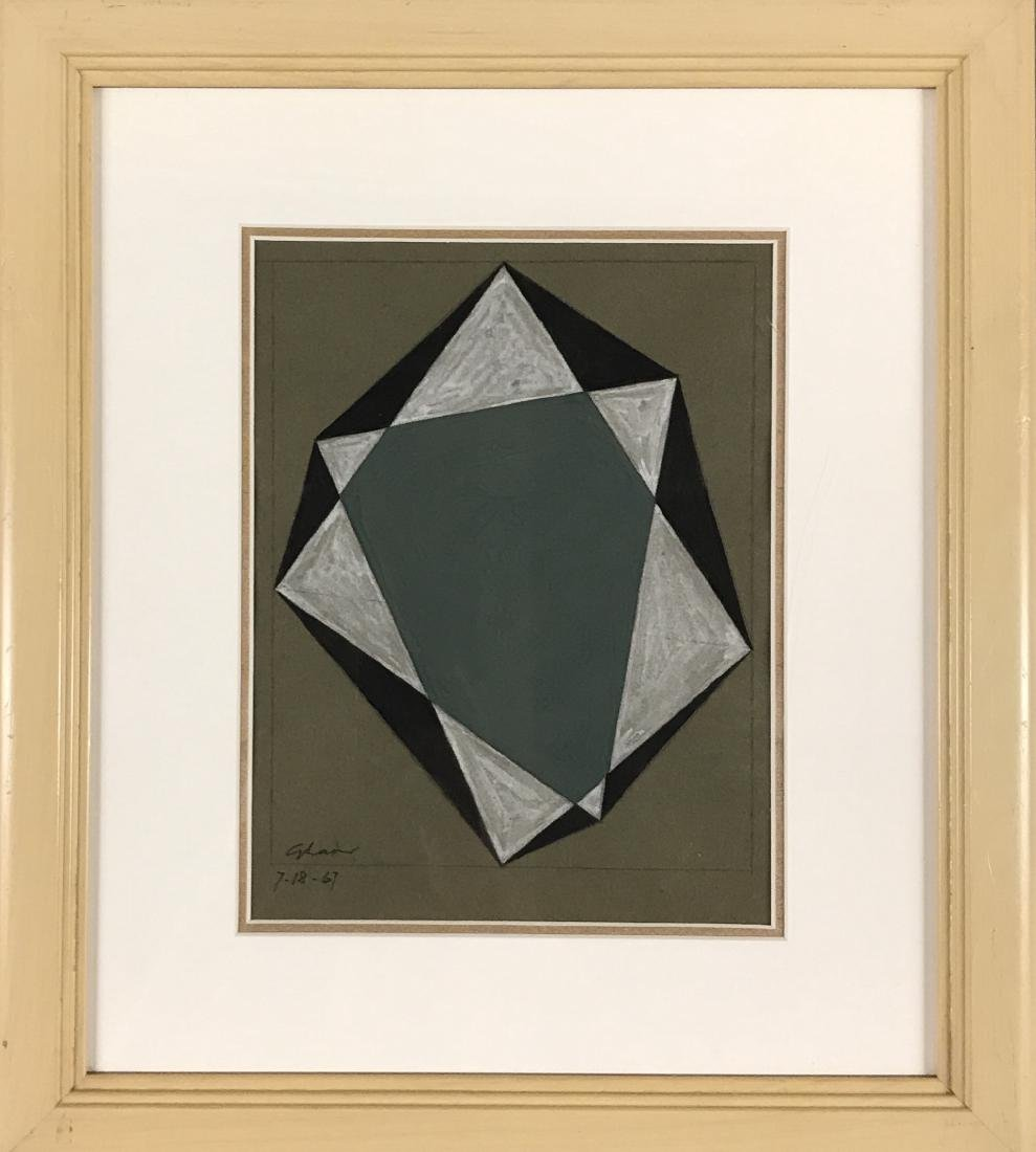 Charles Green Shaw 1967 Pencil & Gouache on paper