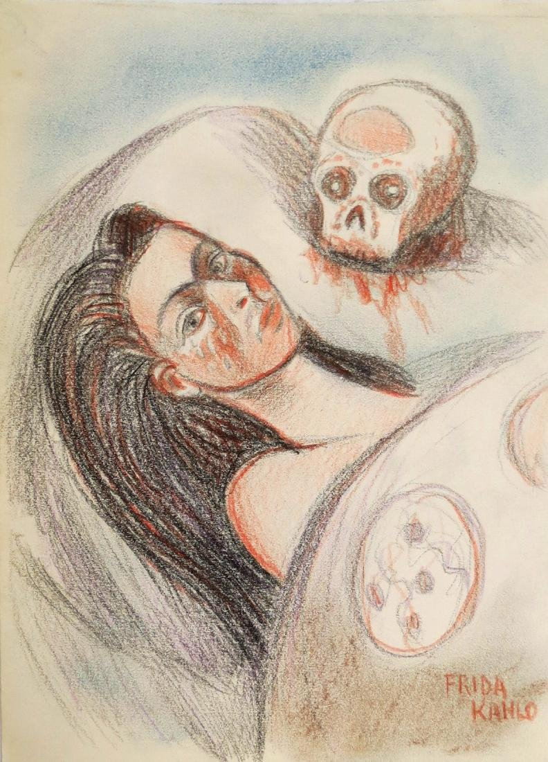 "Frida Kahlo - Color pencil on paper - 8.3"" x 6.3"" Draft"