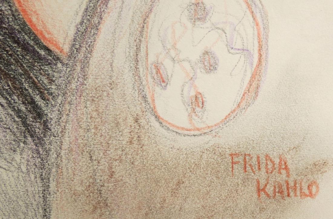 "Frida Kahlo - Color pencil on paper - 8.3"" x 6.3"" Draft - 2"
