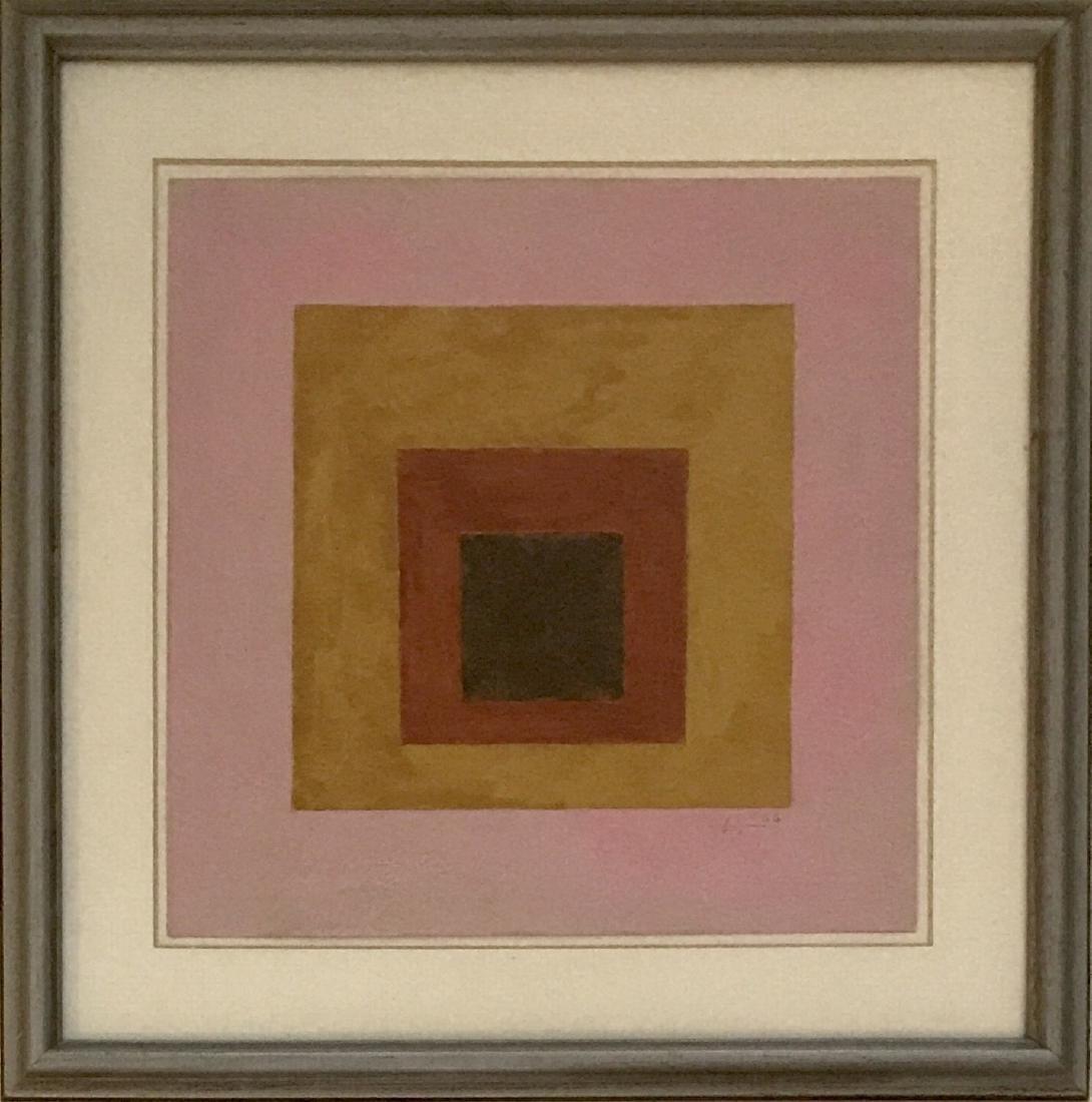 "Josef Albers 1966 Gouache on paper 9"" x 9"""