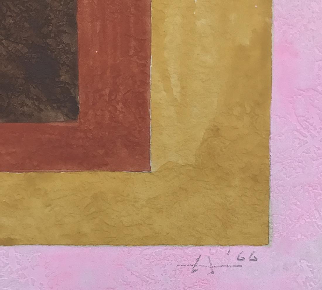 "Josef Albers 1966 Gouache on paper 9"" x 9"" - 3"
