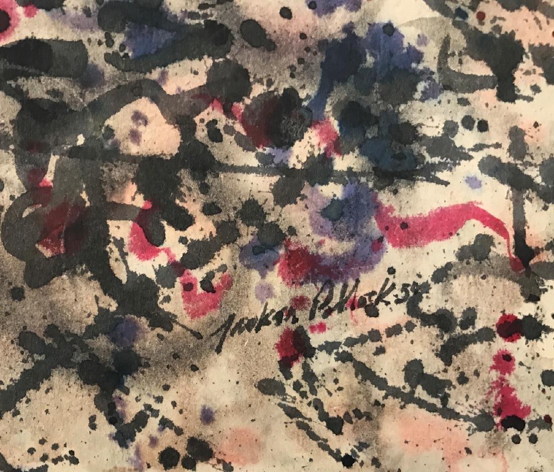 "Jackson Pollock 1950 Ink on paper 6.5"" x 9.5"" - 2"