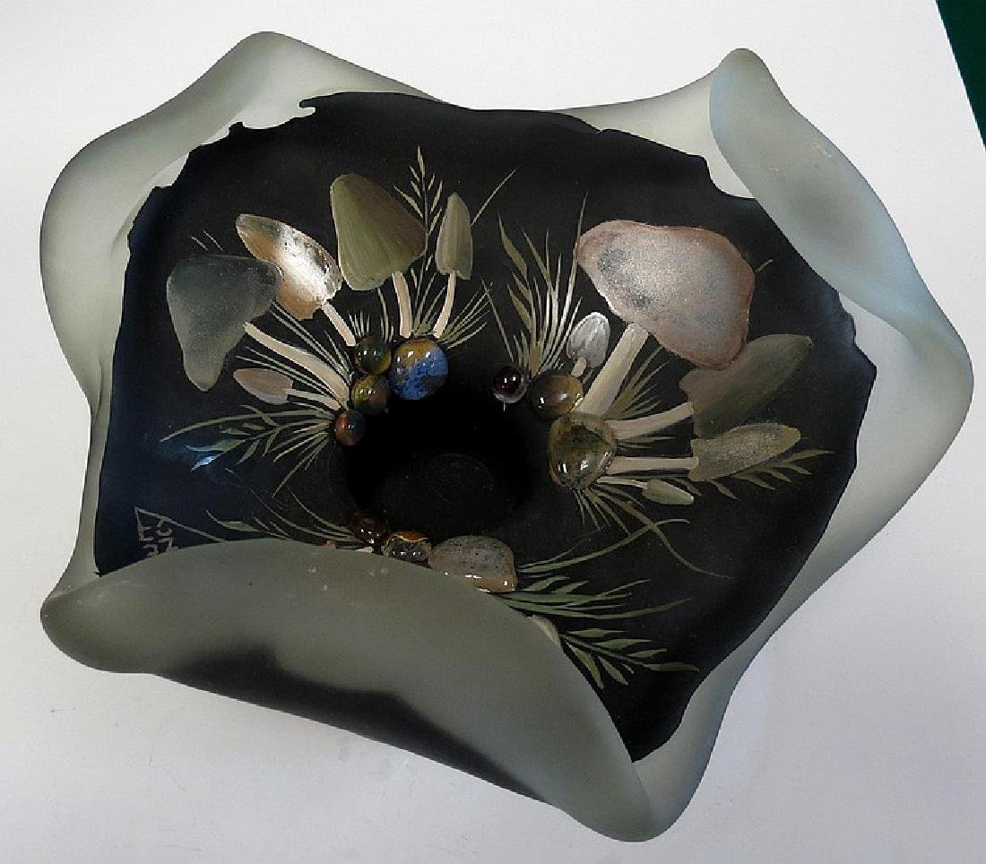 "Daum Nancy Glass centerpiece Diam: 9"" - 2"