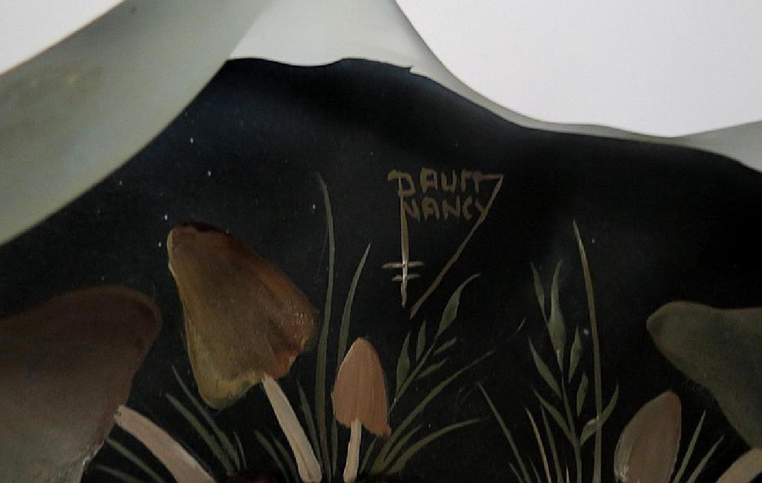 "Daum Nancy Glass centerpiece Diam: 9"" - 4"