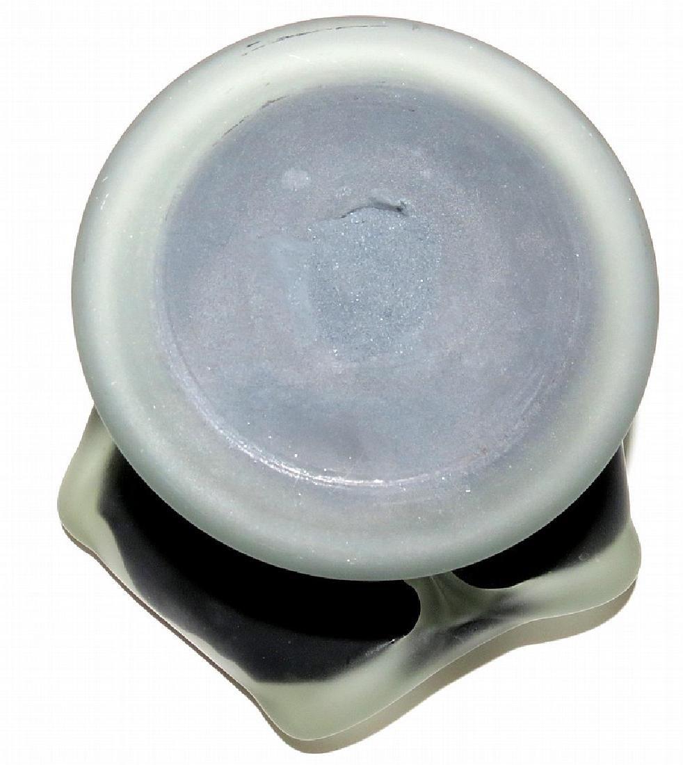 "Daum Nancy Glass centerpiece Diam: 9"" - 5"