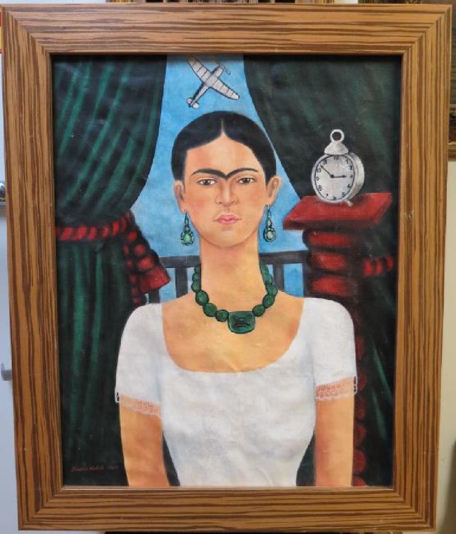 """Frida Kahlo 1929 Oil on Canvas - COA 24"""" x 20"""""""