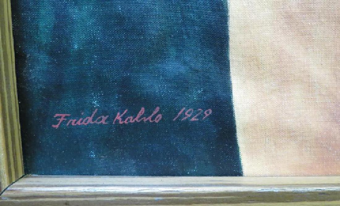"""Frida Kahlo 1929 Oil on Canvas - COA 24"""" x 20"""" - 3"""