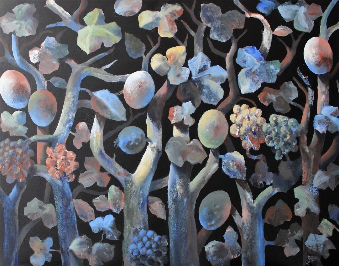Ercole Pignatelli, Selva Notturna,mixed media/canvas