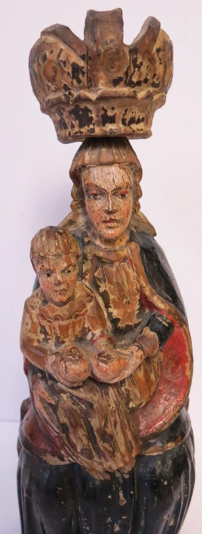 Madonna and Child with Crown . Vienna . 19th Century - 2