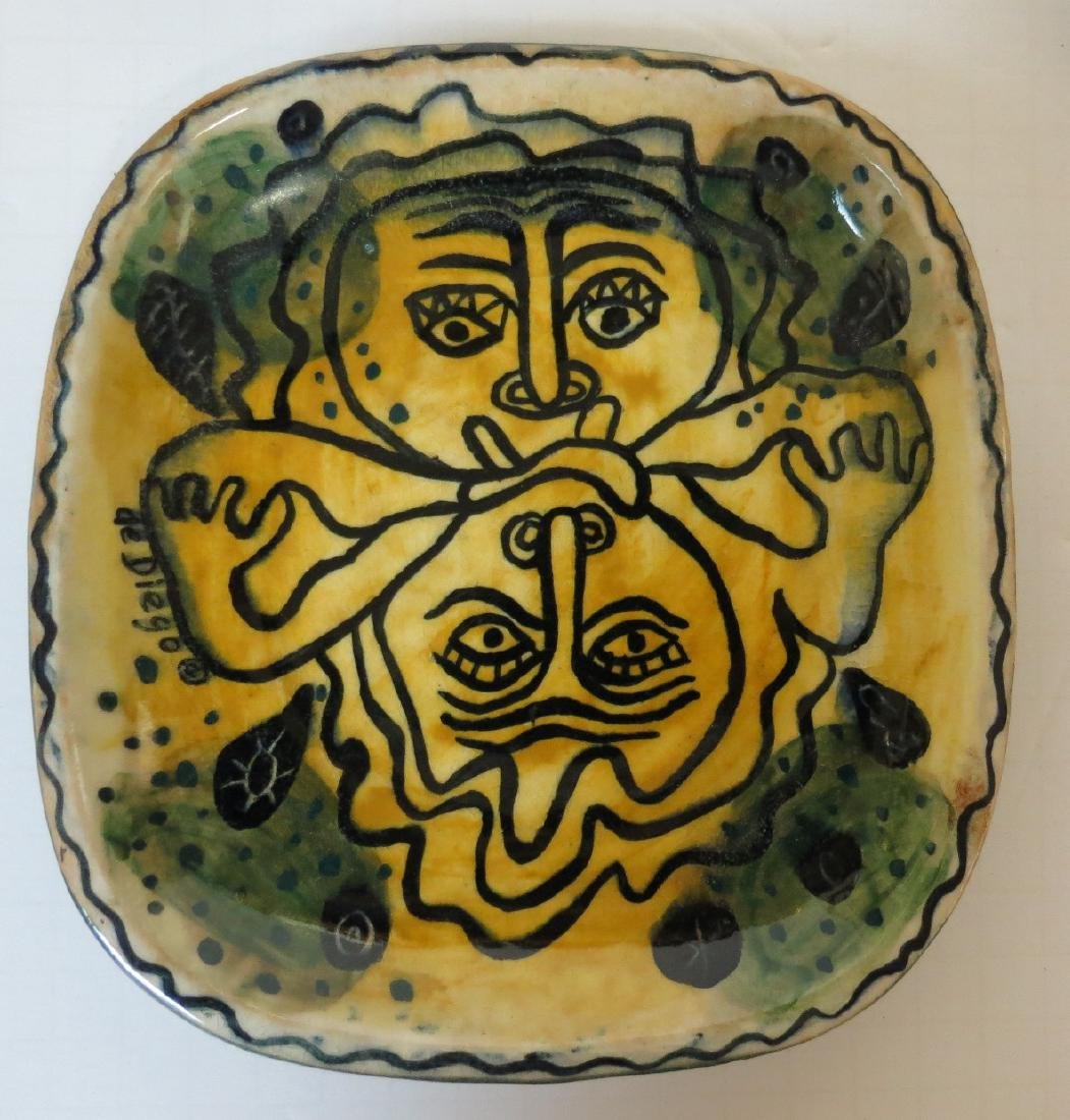 "De Diego - Ceramic Plate 7"" x 6.5"" Excellent"