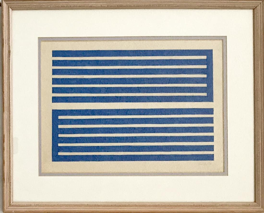 "Donald Judd 1971 Pencil & Ink on paper 11"" x 15"""
