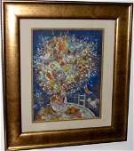 "Marc Chagall (Attrib) Gouache on paper 12"" x 9"""