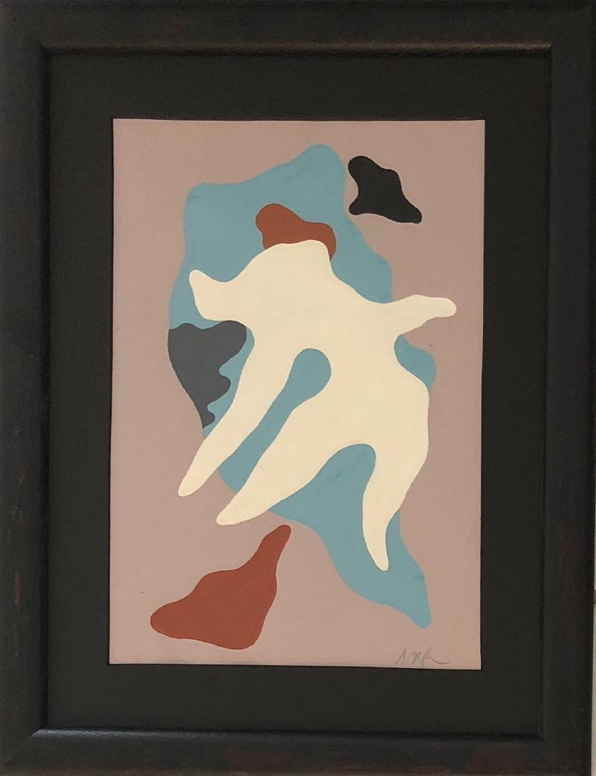 "Jean Arp - Gouache on paper 9"" x 13"""