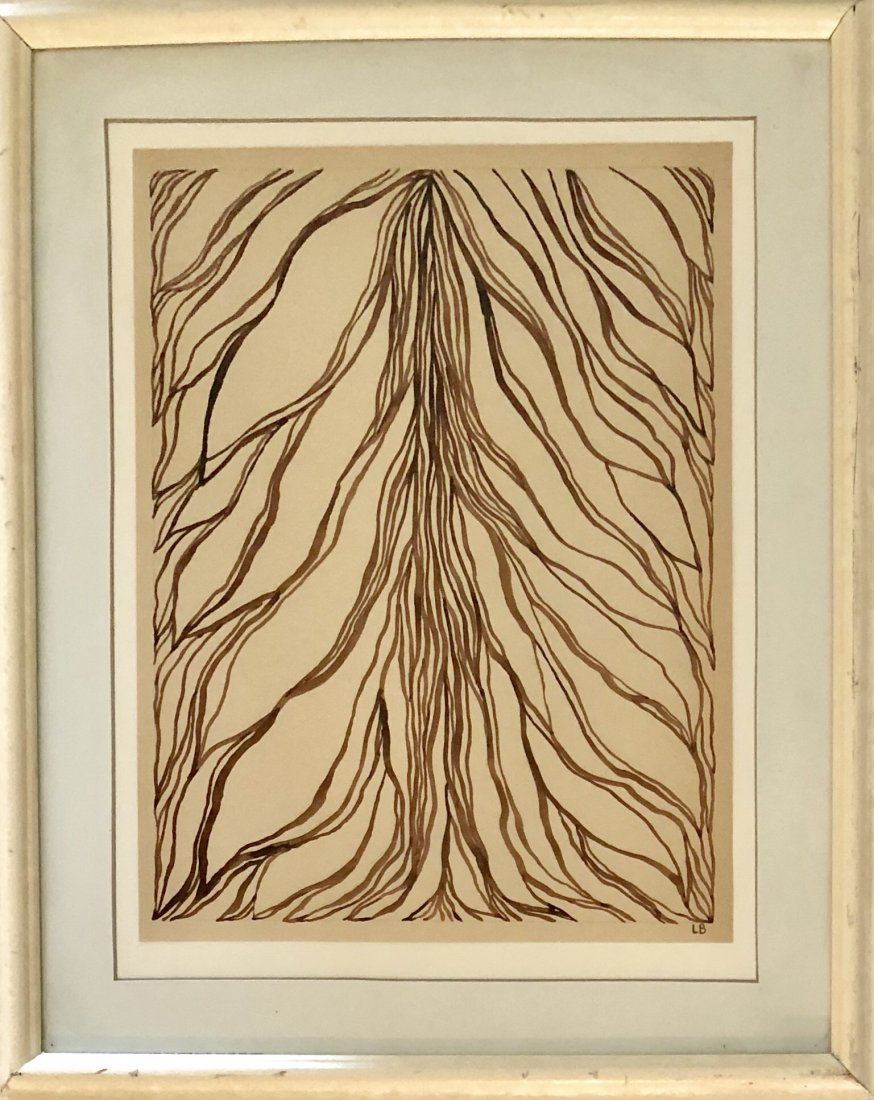 """Louise Bourgeois Ink on paper 15.5"""" x 11.7"""""""