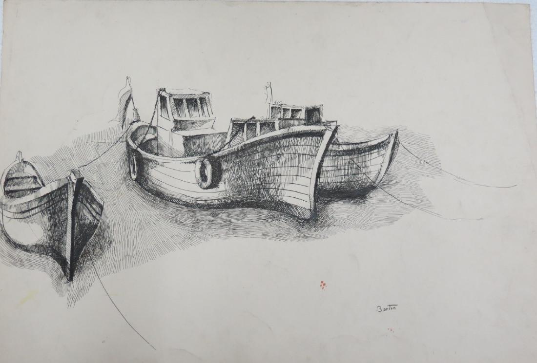 "Thomas Hart Benton - Ink on Paper 18.8"" x 13.8"""