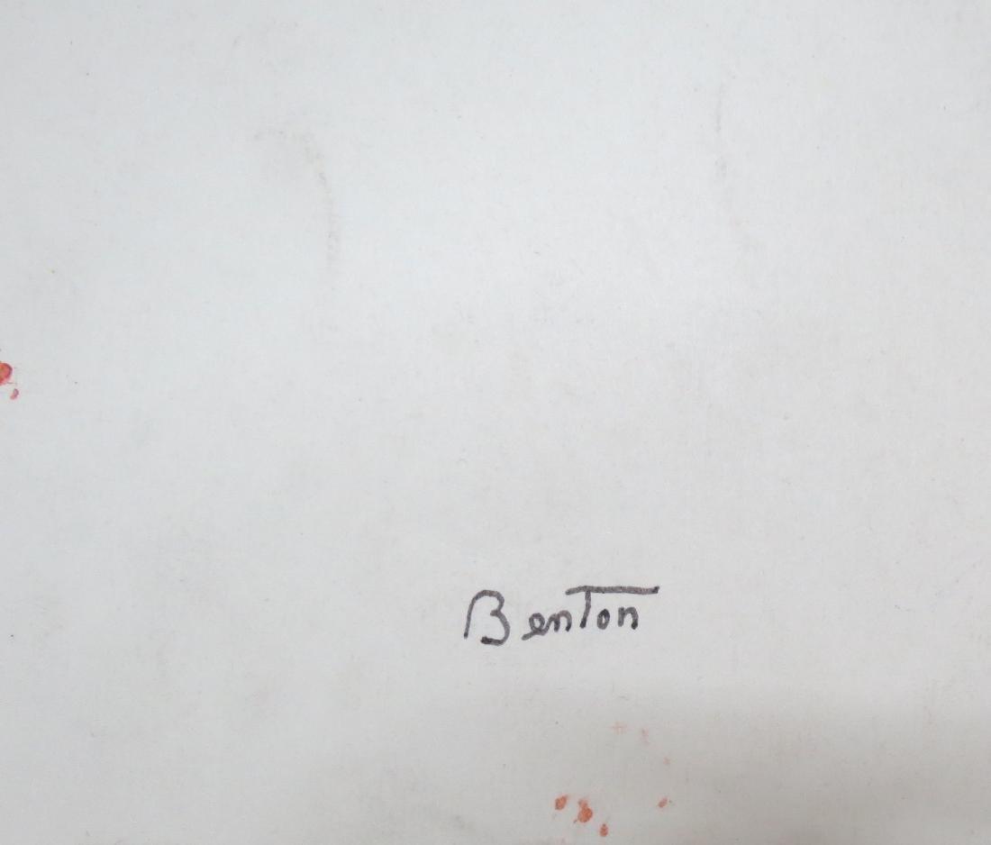 "Thomas Hart Benton - Ink on Paper 18.8"" x 13.8"" - 2"