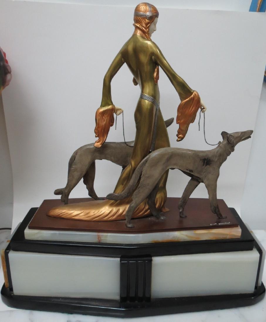 "Otto Poertzel - Bronze Sculpture ""The Aristocrats"""