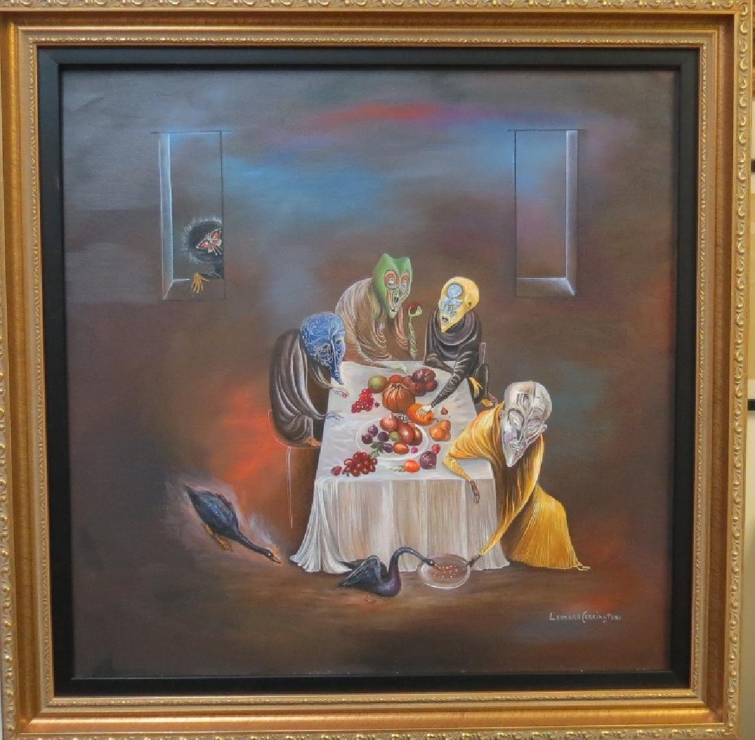 "Leonora Carrington - Oil on canvas - COA 22"" x 22"""