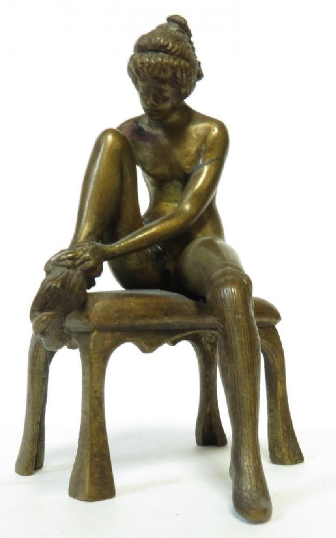 Bruno Zach - Art Deco Bronze Nude Lady H: 3.8""