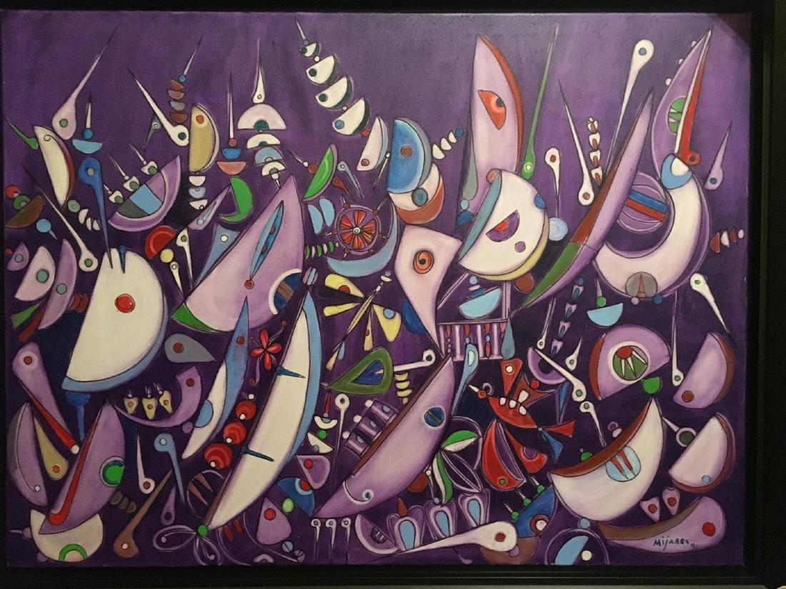 """Jose Maria Mijares  Oil on Canvas 30"""" x 40"""" Cuba"""