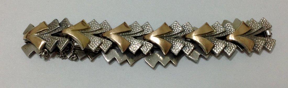 """Silver & Gold Bracelet - L: 7.5"""""""