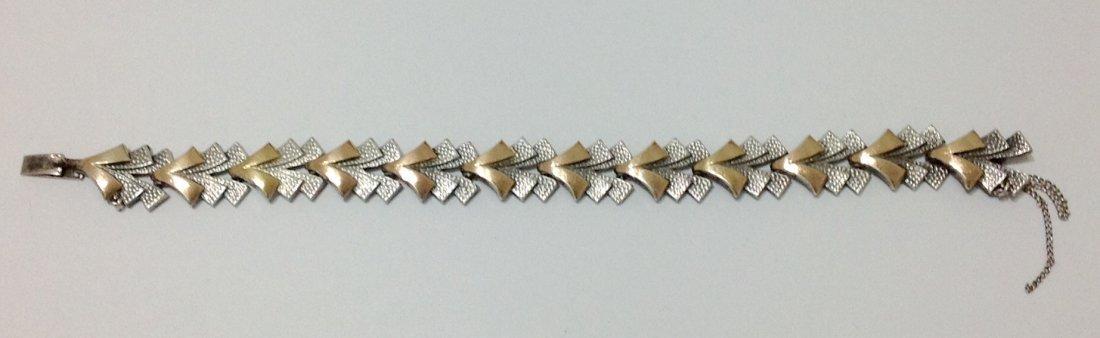 """Silver & Gold Bracelet - L: 7.5"""" - 2"""