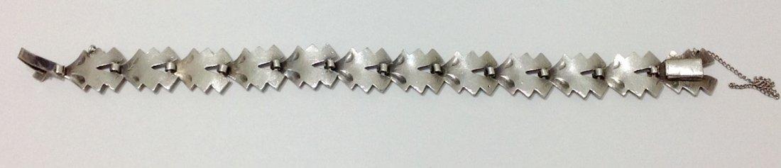 """Silver & Gold Bracelet - L: 7.5"""" - 3"""